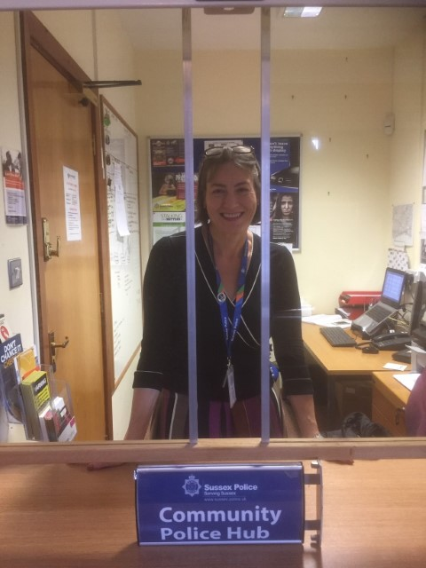 receptionist at the police hub