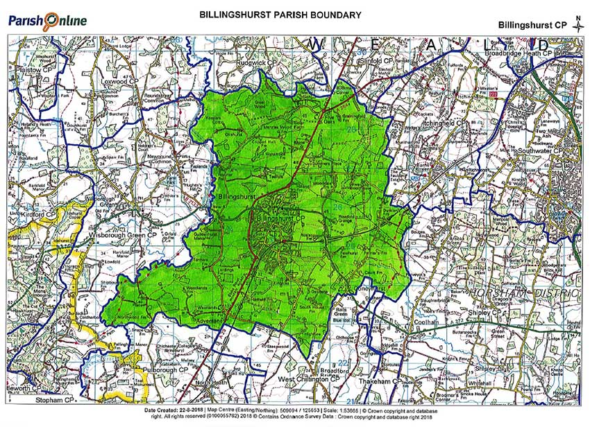 billingshurst parish boundary map