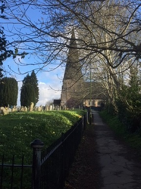 -church_with_trees_around_it